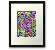 Trippy Spiral Rainbow Framed Print