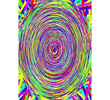 Trippy Spiral Rainbow Photographic Print