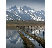 Grand Teton at Flood Stage Photographic Print