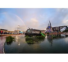 Dismaland Rainbow and Police Van Waterslide Photographic Print
