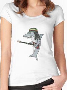 Reggae shark Women's Fitted Scoop T-Shirt