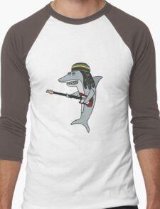 Reggae shark Men's Baseball ¾ T-Shirt