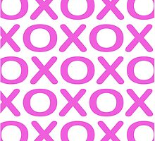 Noughts Crosses Pink by DavidMay