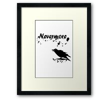 Nevermore geek funny nerd Framed Print