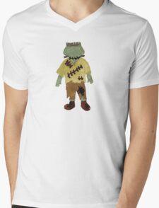 Toddies Trick or Treat Halloween Toddler Frankenstein Monster Mens V-Neck T-Shirt