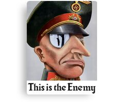 This Is The Enemy -- WWII Canvas Print