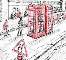 Red Objects in London series by Artistuk
