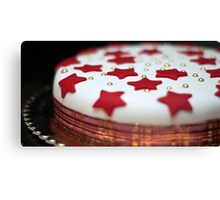 Christmas Cake Canvas Print