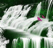 Inspiration -Tranquil Waterfall by haya1812