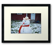 Frosty The Red Nose. . . . Framed Print