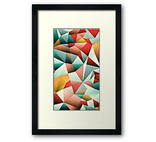 Modern Abstract Geometric Pattern Framed Print