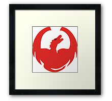 The Great Red Dragon Framed Print