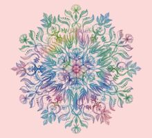 Nature Mandala in Rainbow Hues Kids Tee
