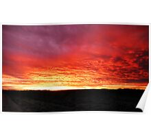 Red Cloud Sunrise  Poster