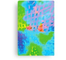 Abstract Blue Green Colorful Water Color Painting Background Canvas Print