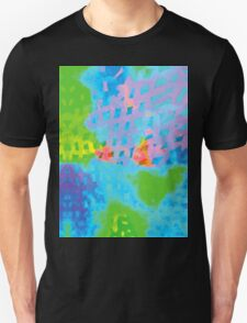Abstract Blue Green Colorful Water Color Painting Background T-Shirt
