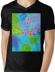 Abstract Blue Green Colorful Water Color Painting Background Mens V-Neck T-Shirt
