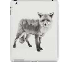 Fox Black and White Double Exposure iPad Case/Skin