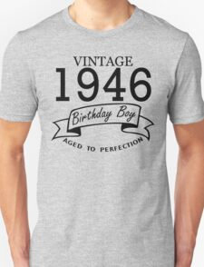 Vintage 1946 Birthday Boy Aged To Perfection T-Shirt