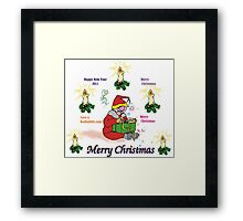 Merry Christmas, Happy New year 2011 Framed Print