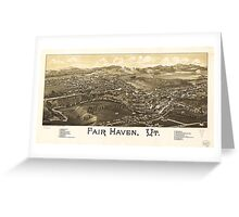 Fair Haven Vermont (1886) Greeting Card