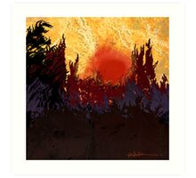 """""""Rising Sun  Art Print"""