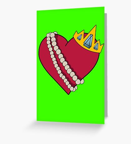 Queen of hearts geek funny nerd Greeting Card