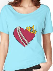 Queen of hearts geek funny nerd Women's Relaxed Fit T-Shirt