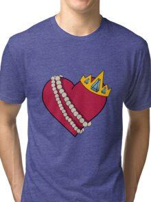 Queen of hearts geek funny nerd Tri-blend T-Shirt