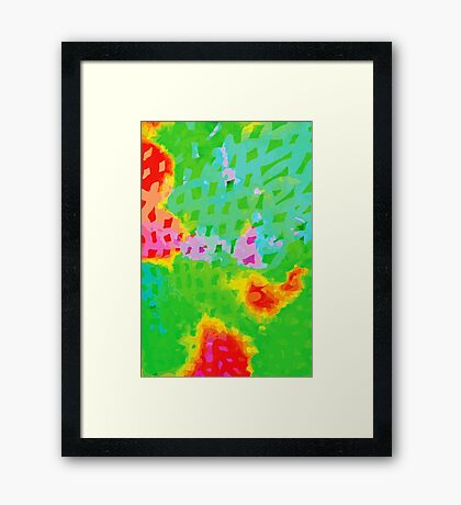 Colorful Abstract Watercolor Painting Background Framed Print