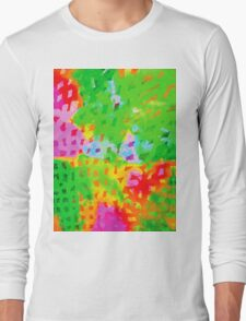 Multicolor Abstract Watercolor Painting Long Sleeve T-Shirt