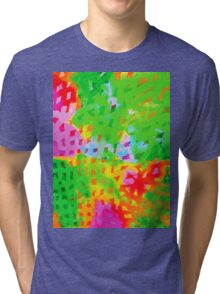 Multicolor Abstract Watercolor Painting Tri-blend T-Shirt