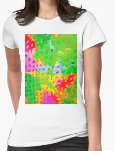 Multicolor Abstract Watercolor Painting Womens Fitted T-Shirt