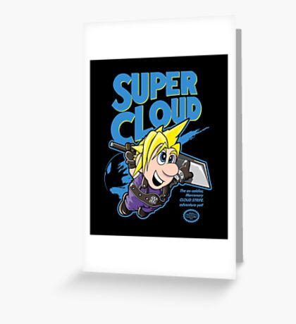 Super Cloud Greeting Card