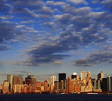 December Sunset on NYC Skyline by Daniel  Rarela
