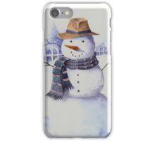 Watercolour snowman iPhone Case/Skin