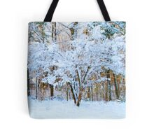 Siebold Viburnum in the Snow Tote Bag