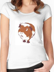 Curious Guinea Pig Women's Fitted Scoop T-Shirt