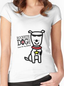 Rdr todd parr lrg dog white geek funny nerd Women's Fitted Scoop T-Shirt