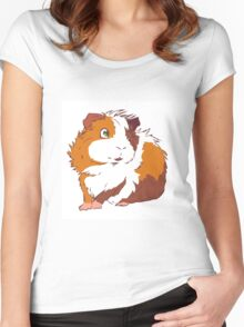 Friendly Guinea Pig Women's Fitted Scoop T-Shirt