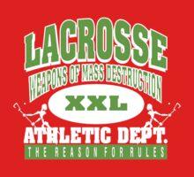 "Lacrosse Athletic Dept ""Weapons of Mass Destruction"" Kids Tee"