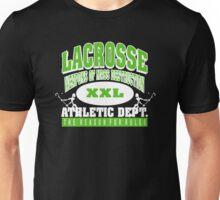 """Lacrosse Athletic Dept """"Weapons of Mass Destruction"""" Unisex T-Shirt"""