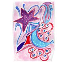 Stars, moons & dots Poster