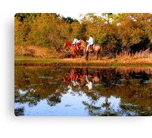 Chincoteague Cowboys Canvas Print