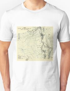 World War II Twelfth Army Group Situation Map October 15 1944 Unisex T-Shirt