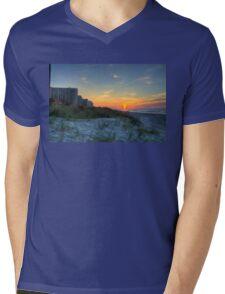 Kingston Plantation Sunrise Mens V-Neck T-Shirt