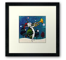 Cat with a trumpet Framed Print