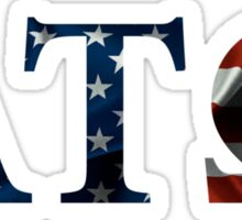 Alpha Tau Omega American Flag Sticker