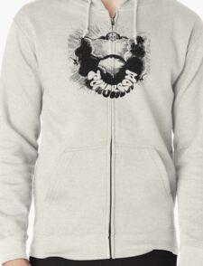 Tomorrow Psychedelic Rock T-Shirt Zipped Hoodie