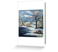 The Lake & Snow Greeting Card